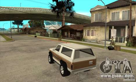 Ford Ranger for GTA San Andreas back left view