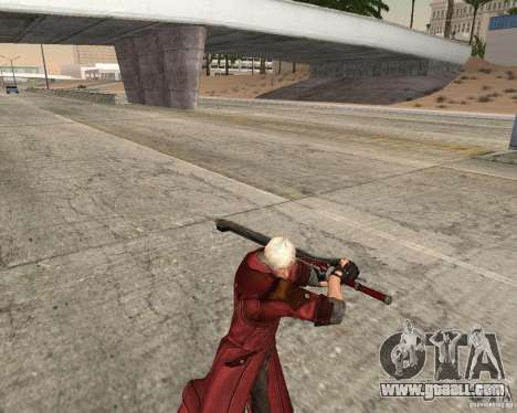 Nero sword from Devil May Cry 4 for GTA San Andreas third screenshot