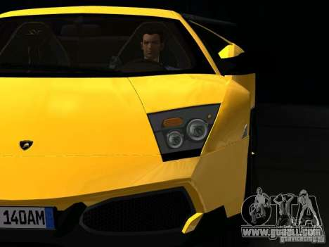Lamborghini Murcielago LP670-4 sv for GTA San Andreas upper view