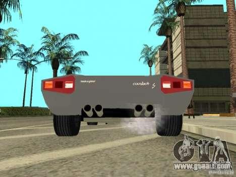 Lamborghini Countach LP400 for GTA San Andreas back view