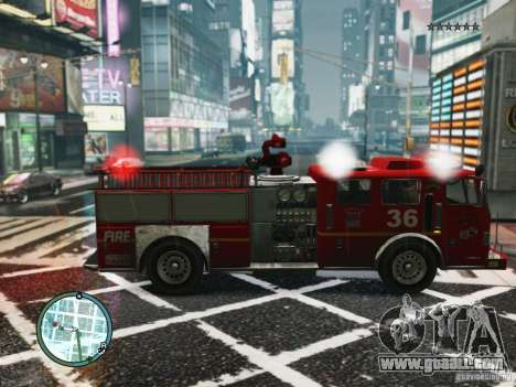 New LCFD Car for GTA 4 back left view
