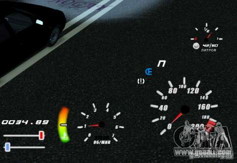 A unique speedometer for GTA San Andreas