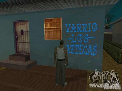 Varrio Los Aztecas for GTA San Andreas ninth screenshot