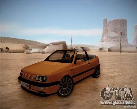 Volkswagen Golf MkIII Cabrio Custom 1995 for GTA San Andreas