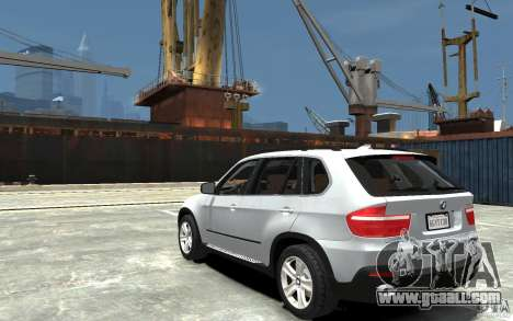 BMW X5 2009 for GTA 4 back left view
