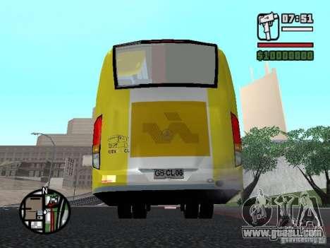 Busscar Vissta Bus for GTA San Andreas back left view