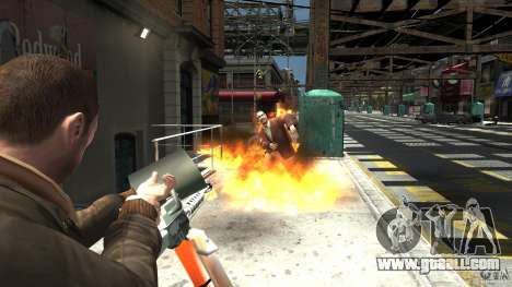 Flamethrower for GTA 4 forth screenshot
