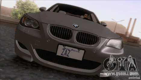 BMW M5 E60 2009 for GTA San Andreas back view