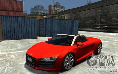 Audi R8 Spyder 5.2 FSI Quattro V4 [EPM] for GTA 4 right view