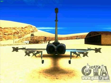 F-5E Tiger for GTA San Andreas back left view