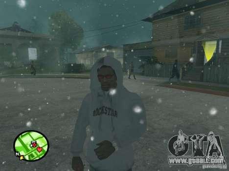 Snowfall for GTA San Andreas forth screenshot
