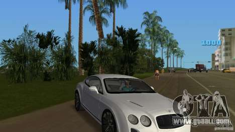 Bentley Continental Supersport for GTA Vice City back view