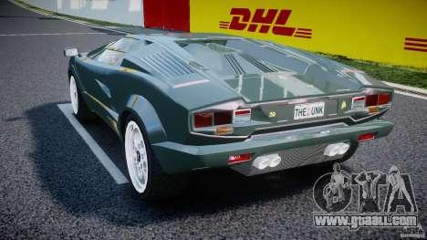 Lamborghini Countach v1.1 for GTA 4 back left view