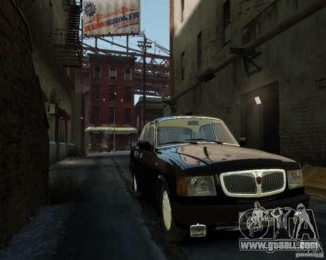 Gaz 3110 Volga for GTA 4 bottom view