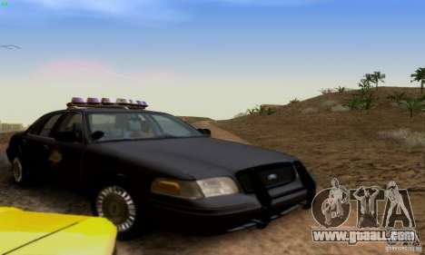 Ford Crown Victoria Kentucky Police for GTA San Andreas back view