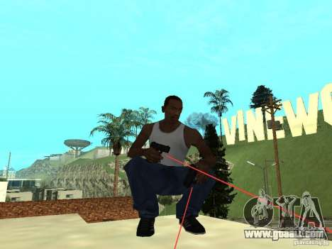 Laser Weapon Pack for GTA San Andreas