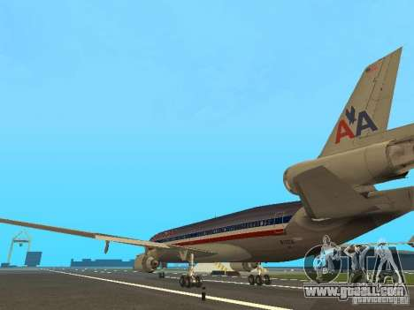 McDonell Douglas MD11 American Airlines for GTA San Andreas back left view