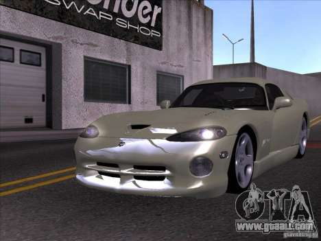 Dodge Viper for GTA San Andreas inner view