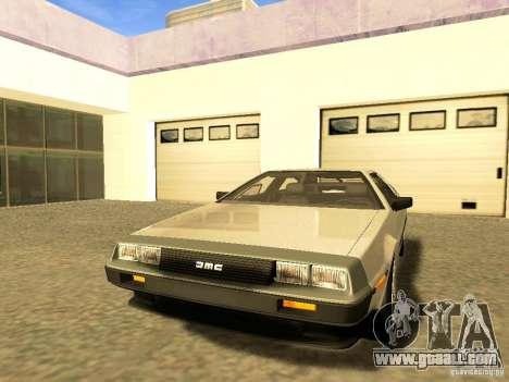 DeLorean DMC-12 V8 for GTA San Andreas upper view