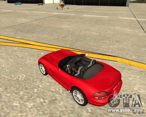 Dodge Viper SRT-10 Roadster for GTA San Andreas side view
