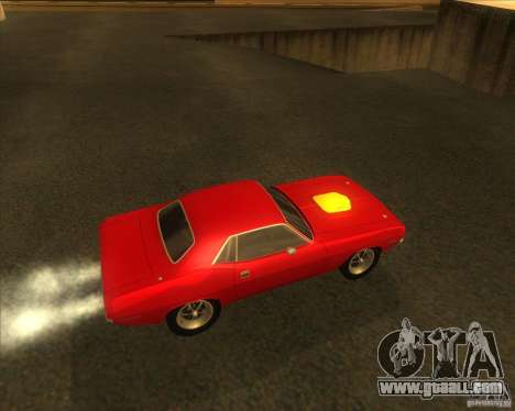 Plymouth Hemi Cuda for GTA San Andreas right view