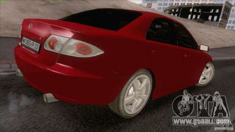 Mazda 6 2006 for GTA San Andreas inner view