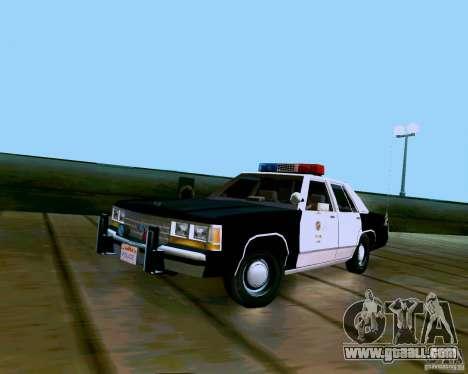 Ford Crown Victoria LTD LAPD 1991 for GTA San Andreas
