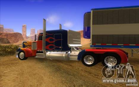 Truck Optimus Prime v2.0 for GTA San Andreas back view