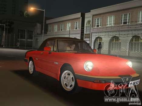 Alfa Romeo Spider 1986 for GTA Vice City right view