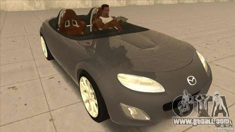 Mazda MX5 Miata Superlight 2009 V1.0 for GTA San Andreas back view