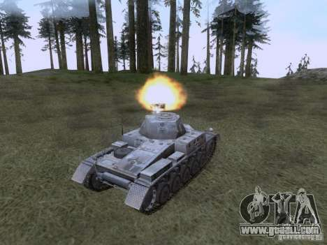 PzKpfw II Ausf.A for GTA San Andreas right view