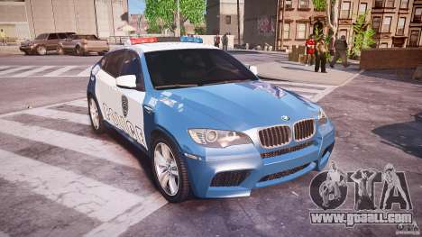 BMW X6M Police for GTA 4 inner view
