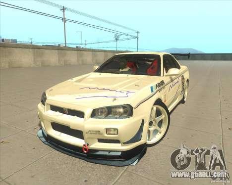 Nissan Skyline GT-R R34 M-Spec Nur for GTA San Andreas wheels