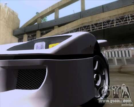 Ferrari F40 for GTA San Andreas inner view
