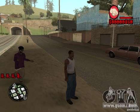 HUD by Russkiy for GTA San Andreas third screenshot