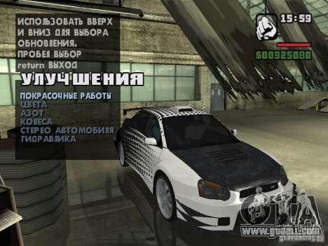 Subaru Impreza Wrx Sti 2002 for GTA San Andreas