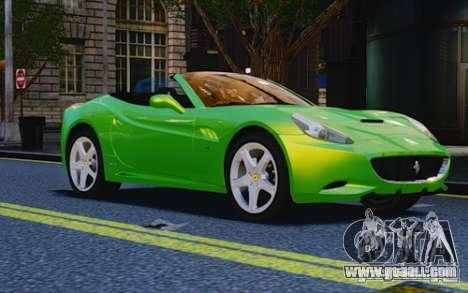 Ferrari California for GTA 4 right view
