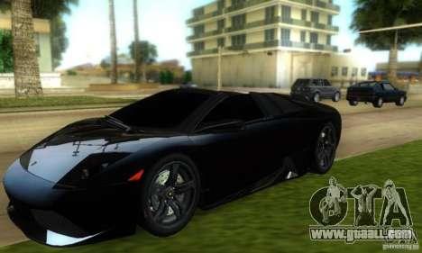 Lamborghini Murcielago LP640 Roadster for GTA Vice City back left view