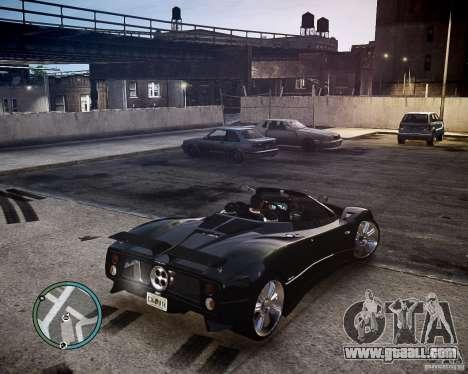 Pagani Zonda C12S Roadster for GTA 4 back view