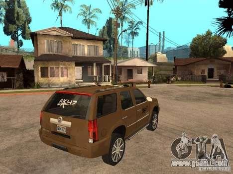 Cadillac Escalade for GTA San Andreas right view