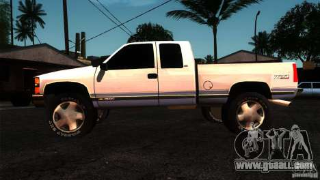 Chevrolet Silverado 1996 for GTA San Andreas left view