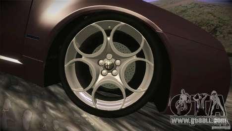 Alfa Romeo Brera Ti for GTA San Andreas bottom view