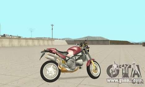 Ducati Monster S4R for GTA San Andreas back left view