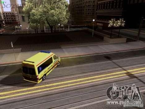 Mercedes-Benz Sprinter Ambulance for GTA San Andreas bottom view