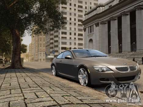 BMW M6 2010 for GTA 4 back left view
