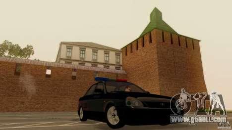 LADA 2170 Police for GTA San Andreas