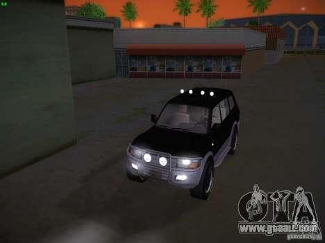 Mitsubishi Pajero for GTA San Andreas side view
