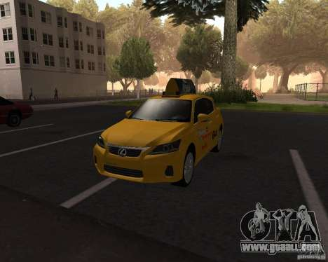 Lexus CT 200h 2011 Taxi for GTA San Andreas