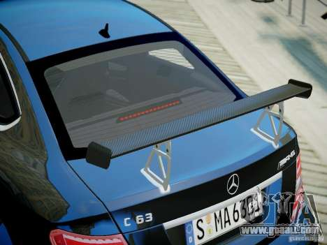 Mercedes-Benz C63 AMG Black Series 2012 v1.0 for GTA 4 right view
