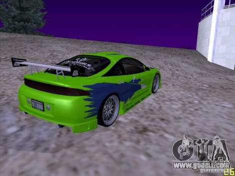 Mitsubishi Eclipse 1998 - FnF for GTA San Andreas back left view